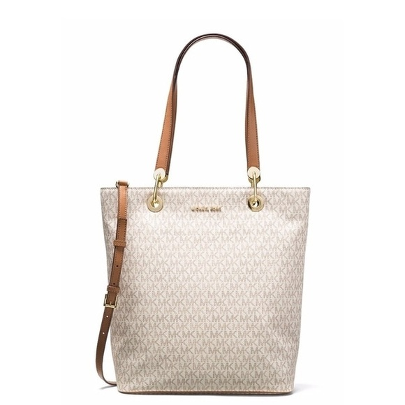 0528a2ef0102 MICHAEL Michael Kors Bags | Nwt Raven Large North South Tote Vanilla ...